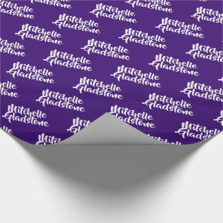 Personalized Purple BTMF Wrapping Paper