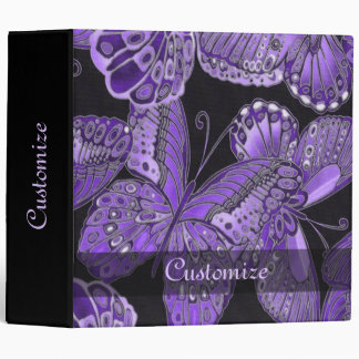 Personalized Purple Butterfly Keepsake Binder