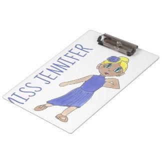 Personalized Purple Costume Dance Teacher Gift Clipboard