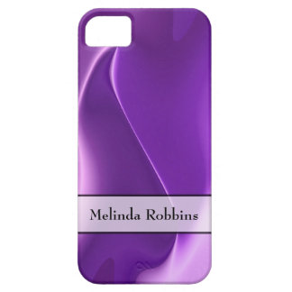 Personalized Purple Flame Abstract Case For The iPhone 5