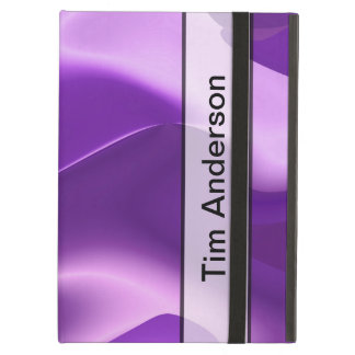 Personalized Purple Flame Abstract iPad Air Cases