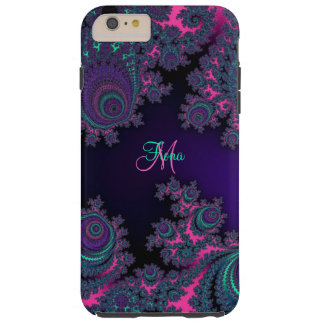 Personalized Purple Fractal iPhone 6 Plus Case