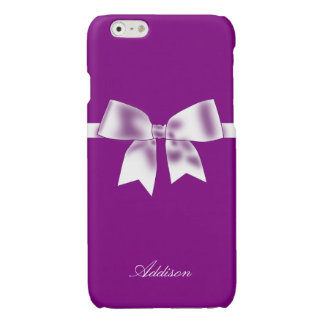 Personalized Purple iPhone 6 Cases With Bow