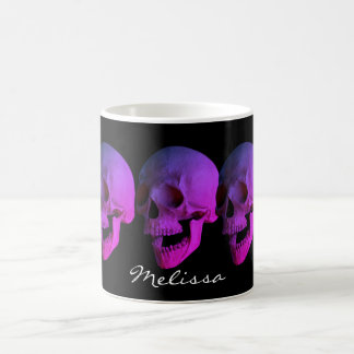 Personalized Purple Laughing Skull Coffee Mug