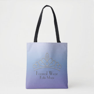 Personalized Purple Pageant Organization Tote Bag