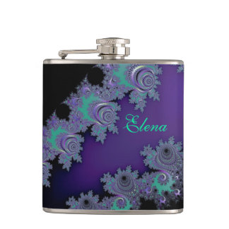 Personalized Purple People Pleaser Fractal Flask