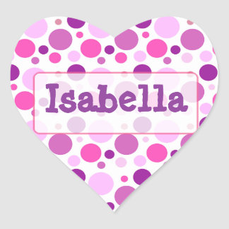 Personalized  Purple Pink Polka Dot Quilt  Sticker
