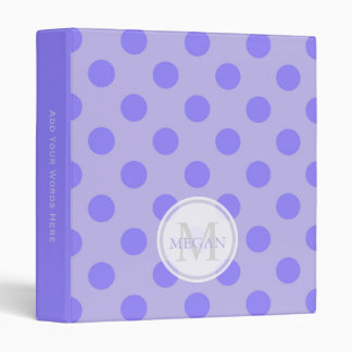 Personalized: Purple Polka Dot Binder