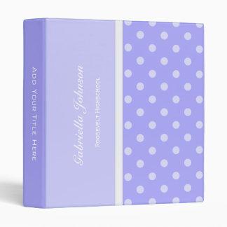Personalized:  Purple Polka-dot Binder 2