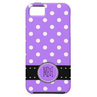 Personalized Purple Polkadots Pattern iPhone 5 Cover