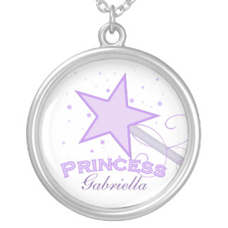 Personalized Purple Princess Necklace