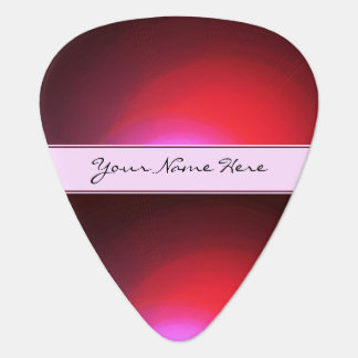 Personalized Purple Red Gradient Flares Guitar Pick