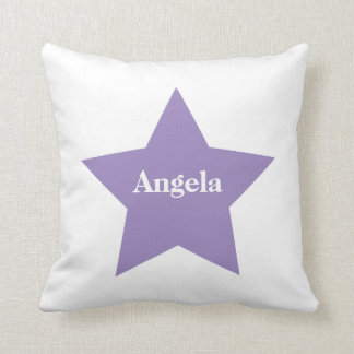 Personalized Purple Star. Purple Star Collection Throw Pillow