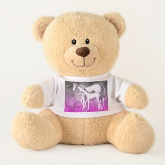 Personalized Purple Unicorn Bear