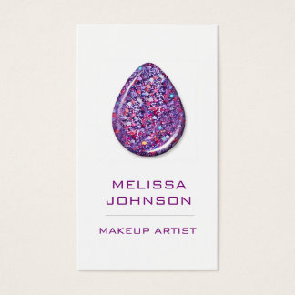 Personalized Purple Violet Glitter Business Cart Business Card