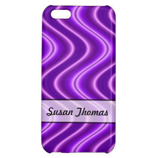 Personalized Purple Wave Design iPhone 5C Cover