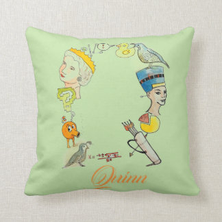 Personalized Q is for _______ pillow