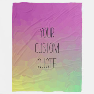 Personalized Quote Gradient Wallpaper Blanket