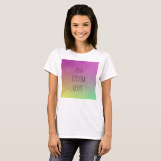 Personalized Quote Gradient Wallpaper T-shirt