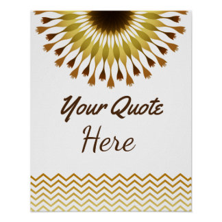 Personalized Quote Wedding Gold  Lotus Flower Poster