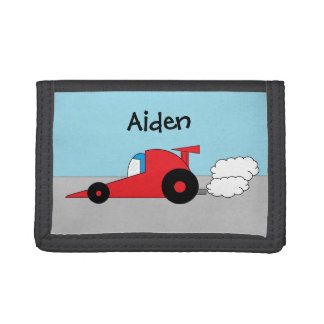 Personalized Racecar Wallet