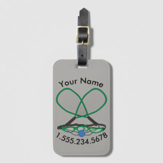 Personalized Racquetball Luggage Tag
