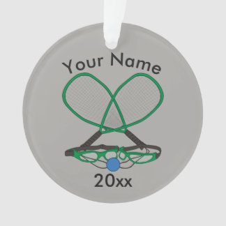 Personalized Racquetball Ornament