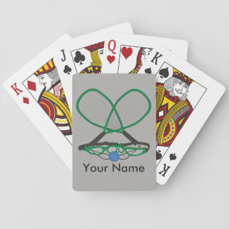 Personalized Racquetball Playing Cards