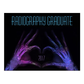 """Personalized """"Radiography Graduate"""" Xray Fingers Postcard"""