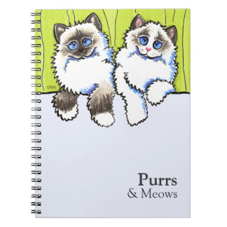 Personalized Ragdoll Cats Off-Leash Art™ Note Books