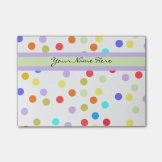 Personalized Rainbow Confetti for Her Post-it Notes