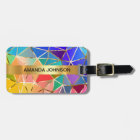 Personalized Rainbow Golden  Metallic Luggage Luggage Tag