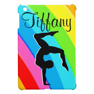 PERSONALIZED RAINBOW  GYMNAST IPAD MINI CASE