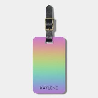 Personalized Rainbow Luggage Tag