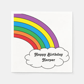 """Personalized Rainbow"" Paper Napkins"