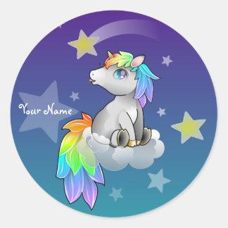 Personalized Rainbow Unicorn Customizable sticker