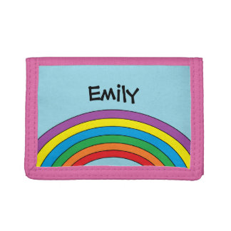 Personalized Rainbow Wallet