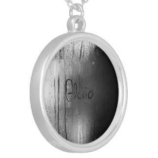 personalized rainy window necklace