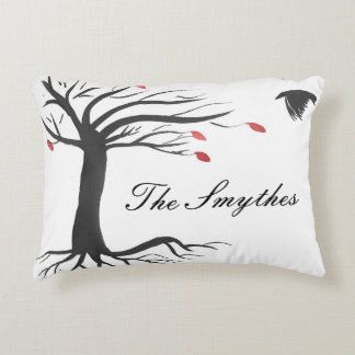 Personalized Raven In Autumn Accent Pillow