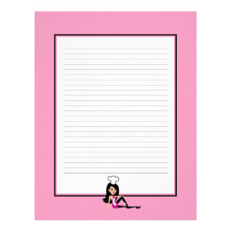 Personalized Recipe Pages Lined