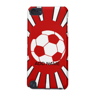 Personalized red and white soccer design iPod touch 5G case