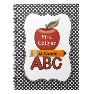 Personalized Red Apple Teacher's Journal