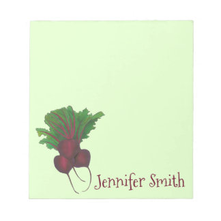 Personalized Red Beet Bunch Vegetable Garden Food Notepad
