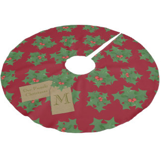 Personalized Red Christmas Tree Skirt