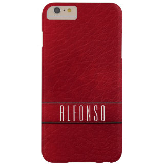 Personalized Red Faux Leather Phone Case