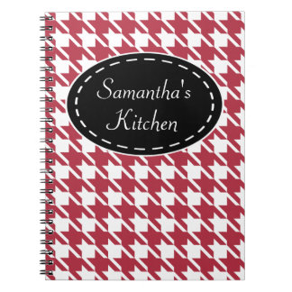 Personalized Red Kitchen Recipe Notebook Gift