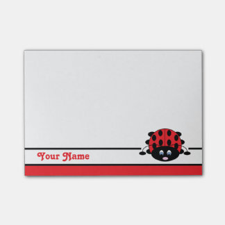 Personalized Red Ladybug Post-it® Notes