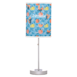 Personalized 'Red Panda' Blue Apple Table Lamp