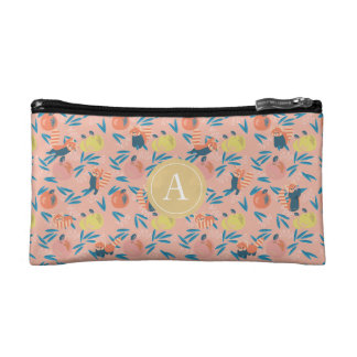 Personalized 'Red Panda' pink apple Cosmetic Bag