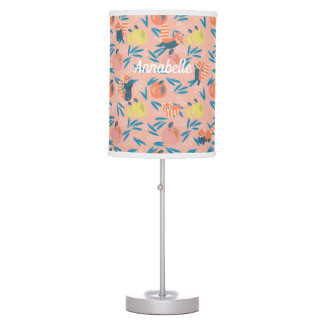 Personalized 'Red Panda' Pink Apple Table Lamp
